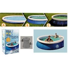 Wild 'n Wet 2.4m Quick-up Inflatable Paddling Pool - Filter & Pump Included - -  quick up swimming paddling pool filter pump 75 x 25 kids garden water