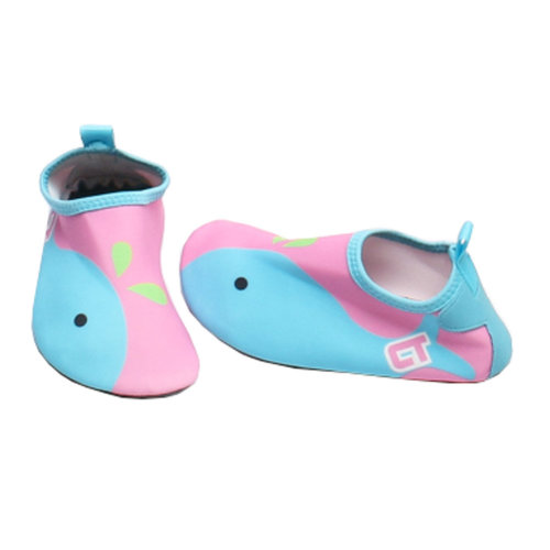 Children Sand Socks Water Skin Shoes Diving Socks,Pink Whale 20.4cm