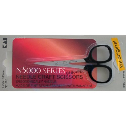 Kai 5100C 4 inch Curved Tip Needlecraft Scissors