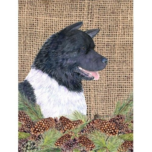 Carolines Treasures SS4061CHF 28 x 40 in. Akita House Size Canvas Flag