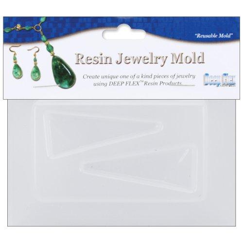 "Resin Jewelry Mold 3.5""X4.5""-Triangles - 2 Cavity"