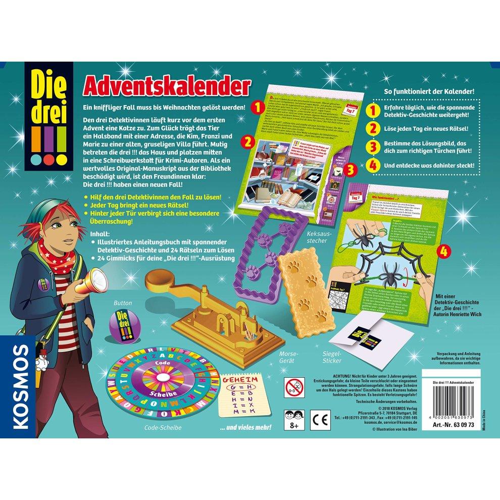 Calendrier De Lavent Kinder 343 G.Kosmos 630973a A A Die Drei Advent Calendar