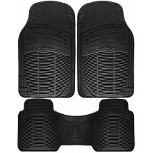 3PC Heavy Duty Rubber Floor Universal Fit Mat for Car, SUV, Van Trucks