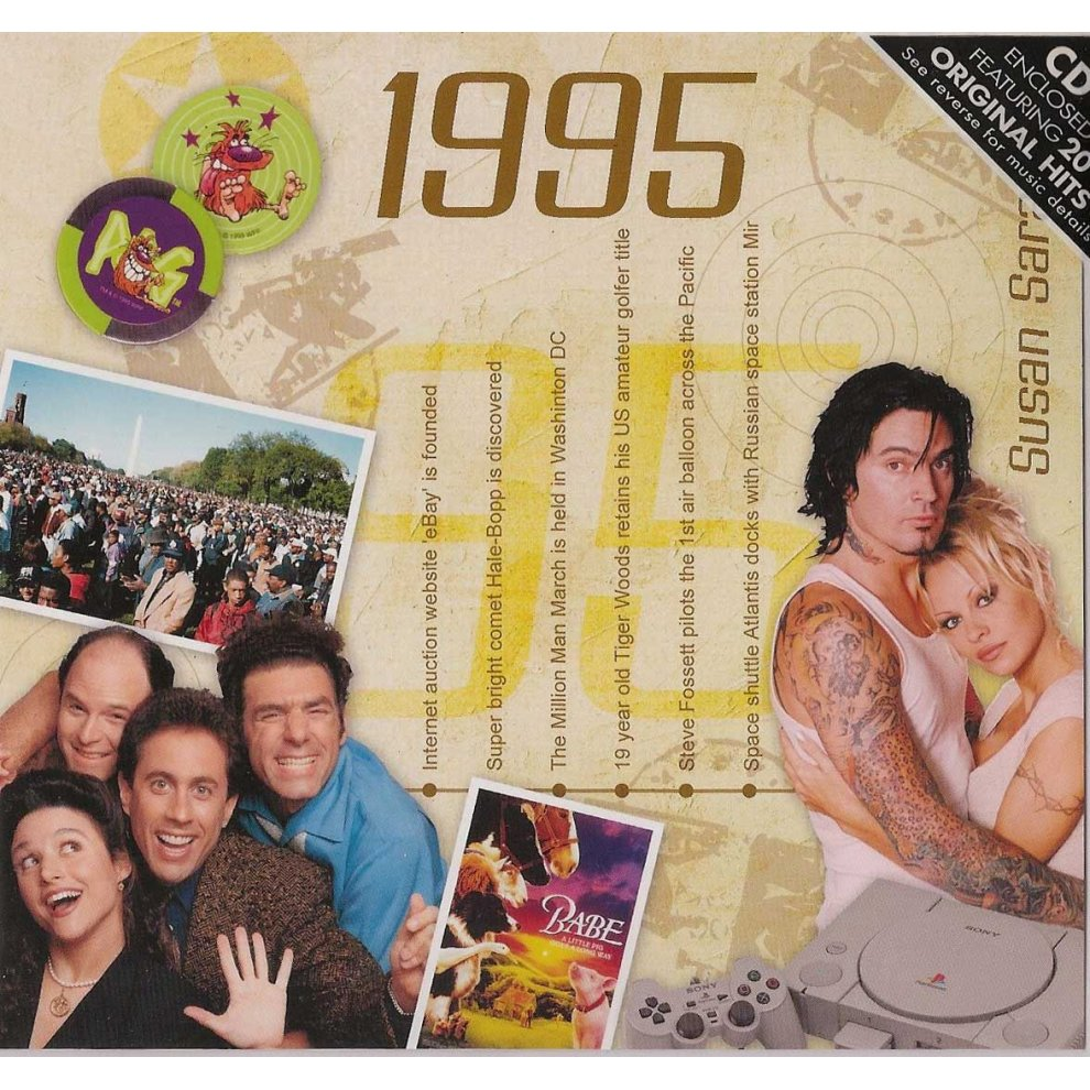 24th Anniversary or Birthday gift ~ Hit Music CD from 1996 /& Greeting Card
