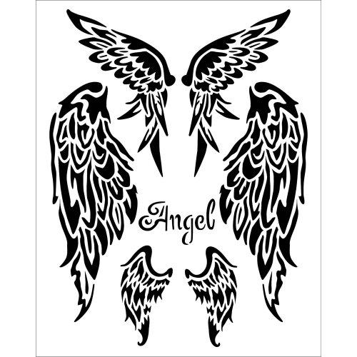 "Stamperia Stencil 7.87""X9.84""-Wings"