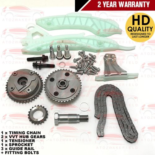 FOR PEUGEOT 207 CC SW 1.4 1.6 16v VTI 2007- TIMING CHAIN KIT SET + VVT HUB GEAR