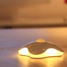 Loskii DX-S11 0.7W LED Motion-Activated Sensor Night Light Four Portable USB Rechargeable Leaf Clover Motion Sensor Bedrooms Light