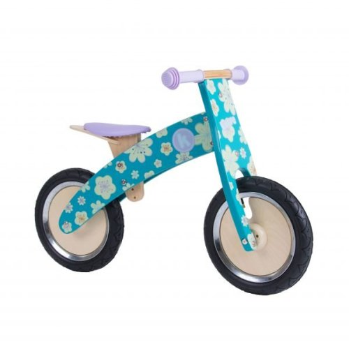 Kiddimoto Kids Kurve Wooden Balance Bike - Fleur Design