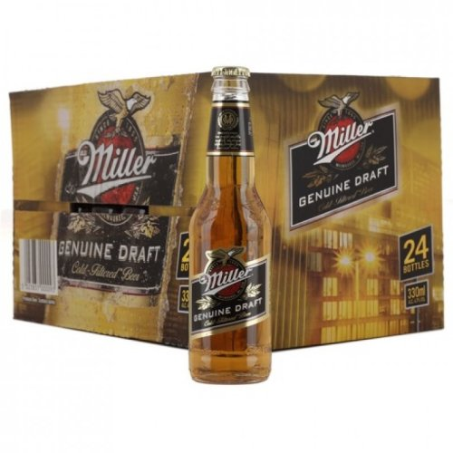 Millers Genuine Draft - American Lager - 24x330ml Bottle Case