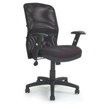 Jupiter Mesh Back Manager Armchair with Adjustable Lumbar Support by Eliza Tinsley 6200ATG/FBK