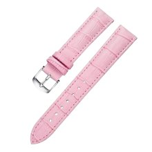 Leather Watch Strap Watchband Wrist Replacement Pin Buckle for Women [Pink]