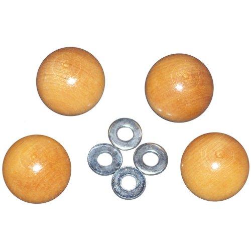 Frank A. Edmunds Handi Clamp Wooden Ball Knobs-4/Pkg