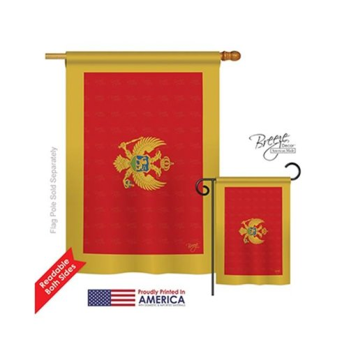 Breeze Decor 08249 Montenegro 2-Sided Vertical Impression House Flag - 28 x 40 in.