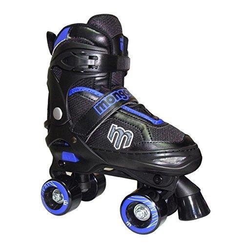 Mongoose Adjustable Quad Roller Skate Blue and Black Sizes 1 4