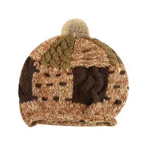 Women's Fashion Berets Great Gift Soft Stretch Knit Beanie Warm Winter Hat  Brown