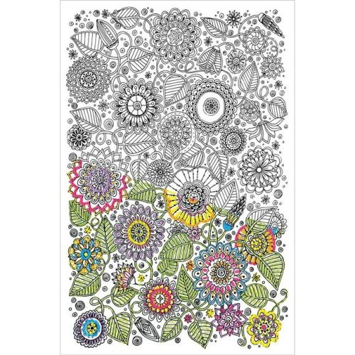 10 x 16 in. Design Works & Zenbroidery Stamped Embroidery - Large Floral