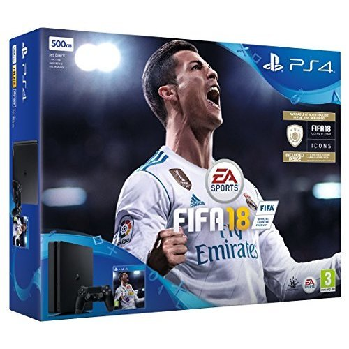 Sony PlayStation 4 500GB Bundle with FIFA 18 Ultimate Team Icons and Rare Player Pack (Slim version) (UK Version) (New)