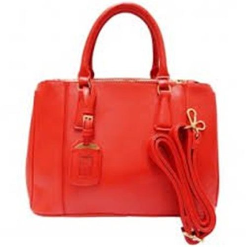 Art Fashions of Europe BN2274 RED 13 x 5 x 10 in. Ronea UCCI Luxury Handbags, Red