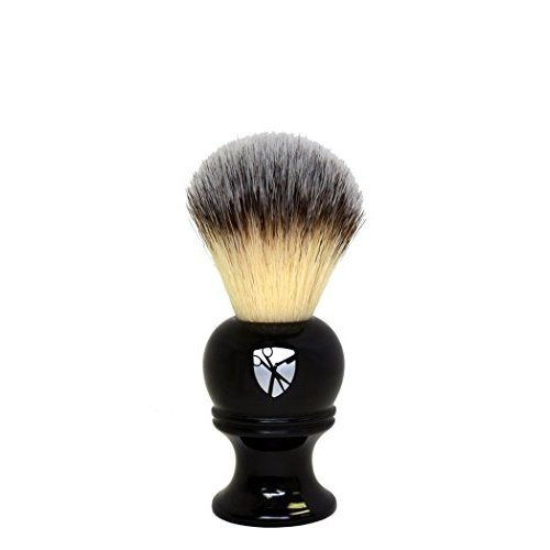 Safety Razor Synthetic Bristle Shaving Brush by Luxury Barber  No Animal Products
