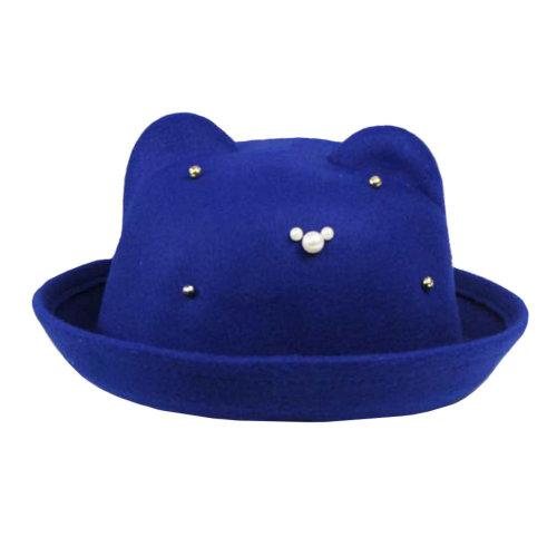 Bowler Hat Wide Brim Hat for Girl/Comfortable/Autumn Elegant Hat Floppy Winter Hat/Fashionable Style
