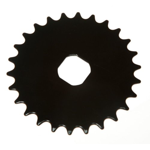 26T TEETH SPROCKET for ONE PIECE CRANK Bike/Bicycle BLACK (Square) NEW
