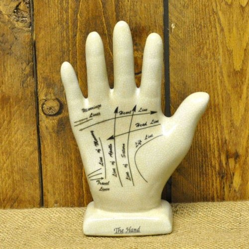 Palmistry Hand 21cm Fortune Tellers Ceramic Antique Style