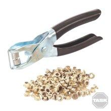 Task Eyelet Pliers + Eyelets 145mm - 152214 Craft -  eyelet pliers eyelets 145mm task 152214 craft