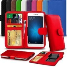 "iTronixs - Archos 55 Helium (5.5"") High Quality Clamp Style PU Leather Wallet Case Cover"