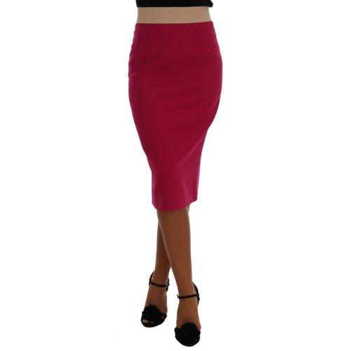 Dolce & Gabbana Pink Knee Length Pencil Skirt