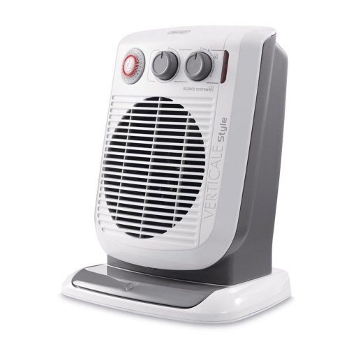 DeLonghi HVF3552TB Upright Fan Heater 24 Hour Timer White