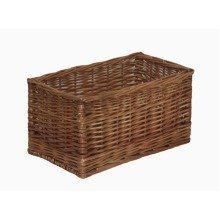 Double Steamed Open Wicker Storage Basket Small