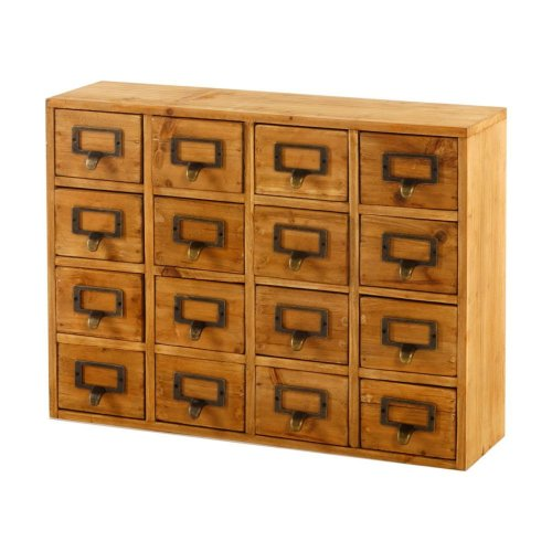 Wooden Storage Cabinet Chest 16 Drawers Handmade Shabby Chic Unit