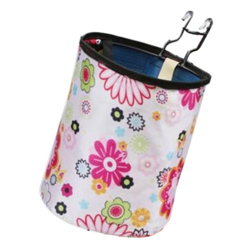 [Flowers] Waterproof Canvas Bicycle Basket Foldable Basket for Bike