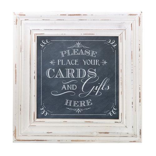 Cards Framed Square Sign Black