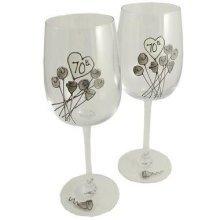 Wedding Anniversary Wine Glasses (Flower)