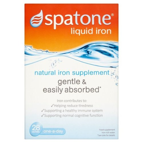 SPATONE 100% Natural Iron Supplement 2 X 28 DAYS (56 sachets)