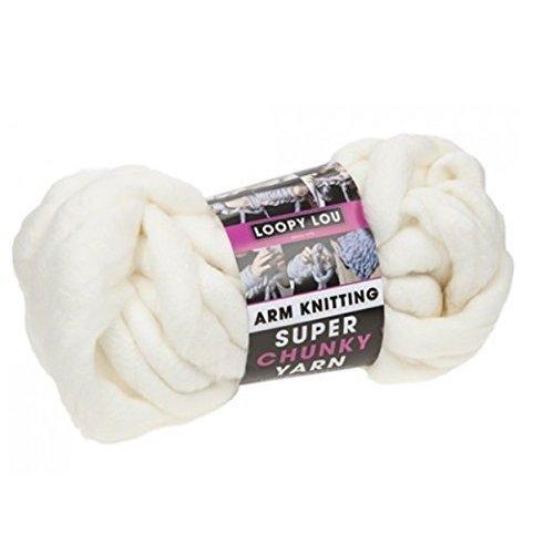Loopy Lou Arm Knitting Super Chunky Luxury Knitting Yarn Wool 12.5M 250g - Cream