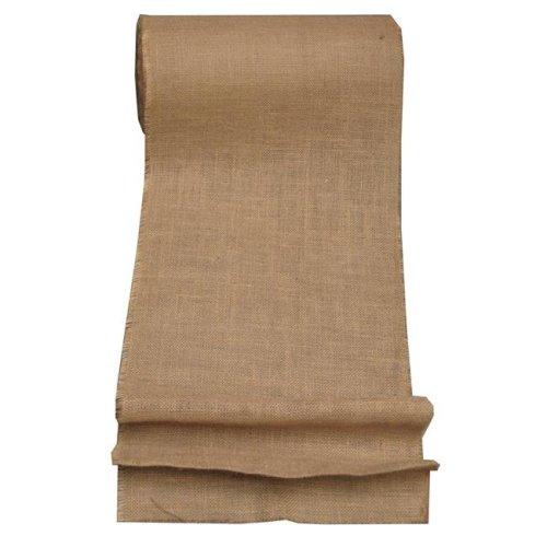 LA Linen 15IN-Burlap-100Yard 100 Yards Burlap Fabric, Natural - 15 in.