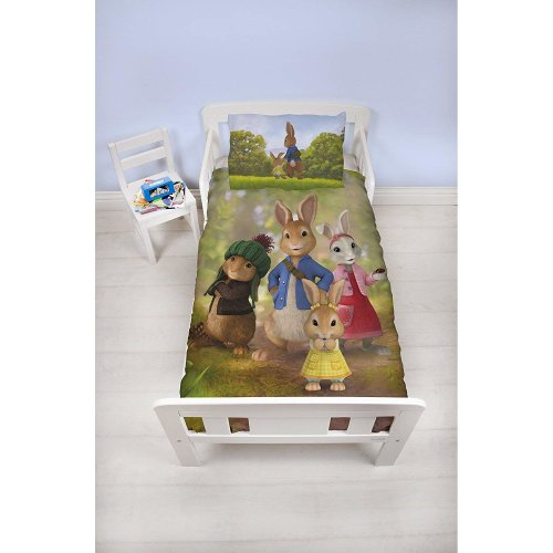 Peter Rabbit Junior Bed Duvet Set Beatrix Potter Kids Bedding - Exclusive British Design Bedding Set