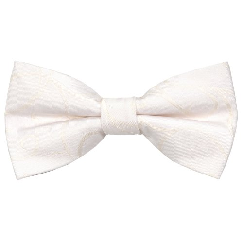 Ivory Modern Scroll Wedding Bow Tie #AB-BB1002/4