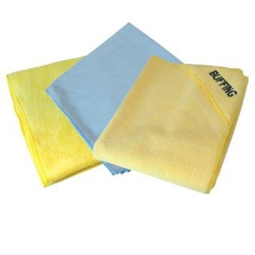 Silverline Microfibre Cloth Cleaning Set 3pce 3pce - 250276 Car 400 x 400mm -  microfibre cleaning cloth set 3pce silverline 250276 car 400 x 400mm