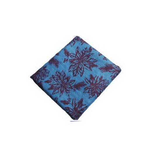 Yoga Print Yoga Towel 72*24'' Thick Yoga Towel with Carry Bag (Blue Leaves)