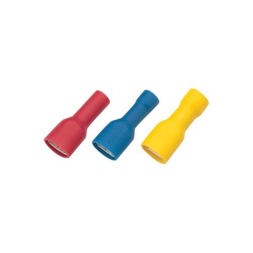Push On Shrouded Receptacle Crimp Terminal Yellow Dia 6.3mm