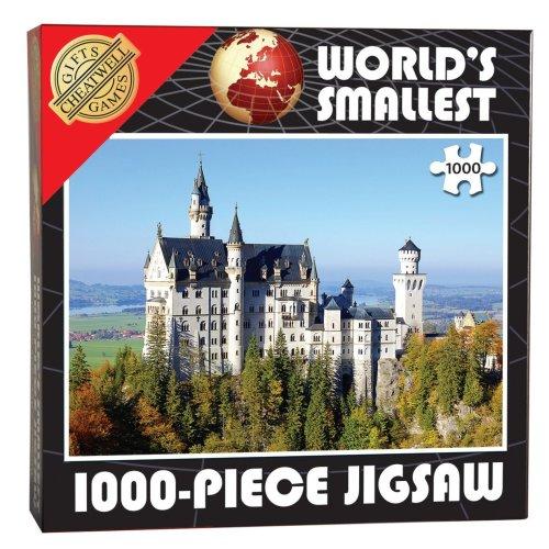 World's Smallest 1000 Piece Jigsaw Puzzle - Neuschwanstein Castle (1000 Pieces)