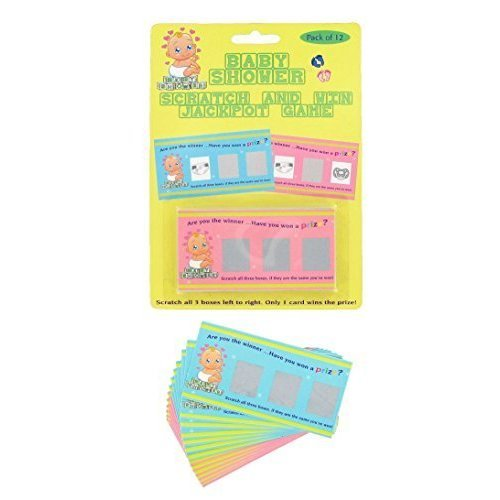 Baby Shower Scratch And Win Jackpot Game - Pack Card Party 12 Games Girl -  baby shower scratch game pack card party 12 win jackpot games girl
