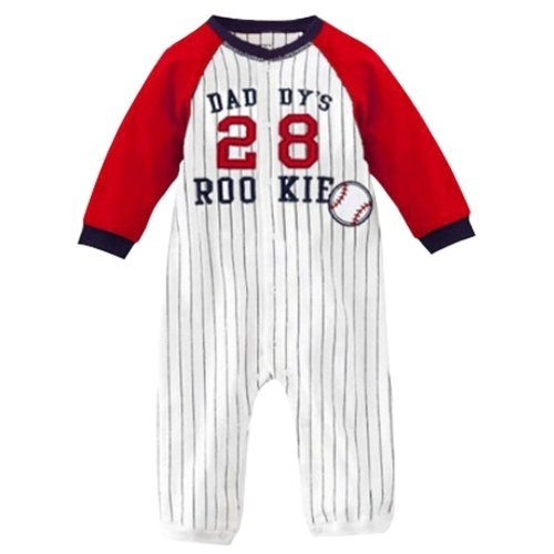 Baby Suit Baby Clothing Long-Sleeved Cotton Baby Crawl Sports Clothing Red