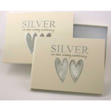 Silver Wedding Guest Book