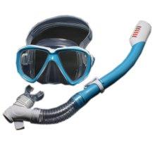 Kids Blue Diving Mask & Dry Snorkel Set, 4-12 Yrs