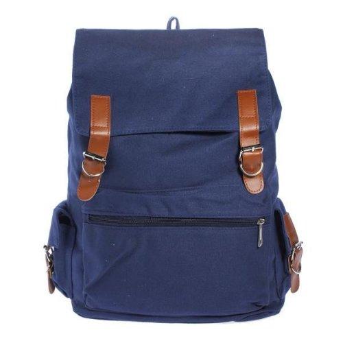 Unisex Canvas Hiking Side Pocket Backpack Shoulder Bag