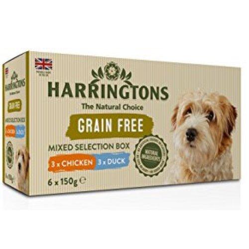 Harringtons Grain Free Variety Pack, 6 x 150g